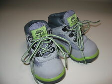 TIMBERLAND TODDLER BABY FIELD HIKING BOOTS GRAY LEATHER SIZE 5 MEDIUM  MSRP $65