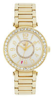 Juicy Couture Luxe Ladies Watch 1901151 Gold Plated T Bar Stone Set