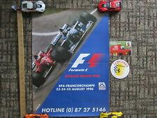 FORMULA ONE / GP Belgium / 1996 F1 Poster & Stickers