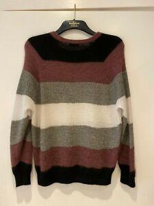 BRUNELLO CUCINELLI Metallic Striped Knitted Sweater Size M  (42 IT) RRP £820