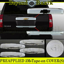 07-14 CHEVY TAHOE SUBURBAN Chrome Tailgate+Lower Liftgate+Gas+Door Handle COVERS
