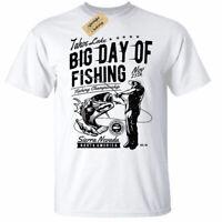 Big Day Of Fishing T-Shirt Mens fisherman gift angler tee white