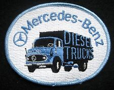 "MERCEDES BENZ  SEW ON PATCH DIESEL TRUCKS LOGO BADGE COLLECTIBLE 4"" x 3"""