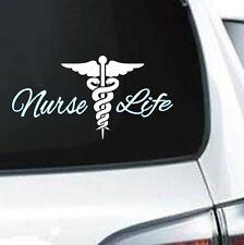 A240 Nurse Life registered RN LPN EMTmedical vinyl decal laptop car truck van