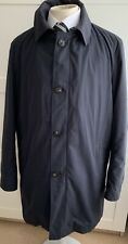 Mens Hugo Boss Selection Navy Water Repellent Coat with Detatchable Down Lining