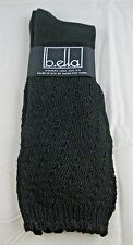 Black Slouch Socks Cotton Blend Ladies B.ella Cassie USA Made Sheer Top 9-11