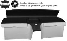 BLACK&WHITE  REAL LEATHER REAR STORAGE PANEL COVERS FITS HONDA CRX DEL SOL 92-97