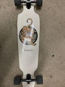 Landyachtz Battle Axe Paper Tiger Drop Through Longboard Complete