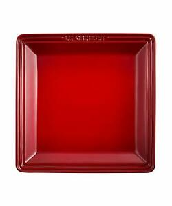 Le Creuset Square plate LC L cherry red
