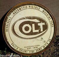 Colt Revolvers Automatic Pistols Tin Metal Classic Sign Wall Garage Shop Decor