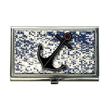 Anchor Nautical Theme Business Credit Card Holder Case