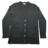 Madewell Womens XS Black Button Front Cardigan Sweater Merino Wool V Neck