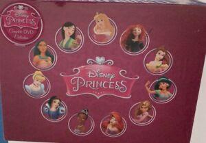 Disney Princess Classic Movie Collection DVD Box Set (1937-2012) Christmas Gift