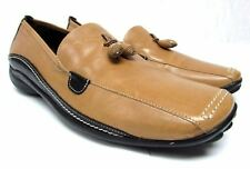 Sesto Meucci women's 8 S narrow leather tan black loafers comfort Italy shoes