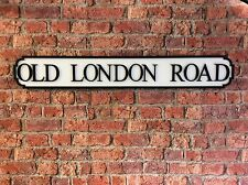 VINTAGE Wood Street Sign Old London Road