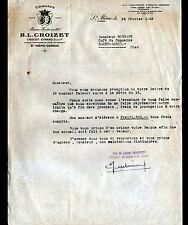 "SAINT-MEME (16) ALCOOL / COGNAC ""B.L. CROIZET & EYMARD"" en 1949"