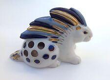 Vtg Russian Ussr Soviet Porcelain Lomonosov Lfz Porcupine Pen Holder Figurine