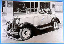 "12 By 18"" Black & White Picture About 1929 Chevrolet Cabriolet Top Down"