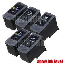 5pk PG-40 CL-41 Ink for Canon PIXMA MP140 MP150 MP160 MP170 MP180 show Ink level