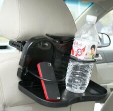 Car Auto Foldable Food Tray Rear Seat Drink Cup Holder (Black)