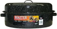 """New listing Columbian Home 19"""", Black, Covered Oval Roaster 0510"""
