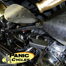 USA SEAT PAN HI-BACK SMALL SOLO WEST EAGLE HARLEY TRIUMPH BOBBER CHOPPER