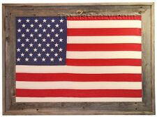 Buy Large 3 x 5 American Flag Framed with Vintage Style Tea Stained US Flag
