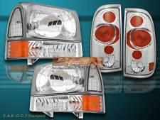 99-04 FORD F250 F350 SUPER DUTY HEADLIGHT CLEAR+ CLEAR CORNER + CLEAR TAIL LIGHT
