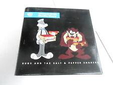 NOS NRFB SALT & PEPPER SHAKER SET (S9)  - 1997 BUGS BUNNY & TASMANIAN DEVIL