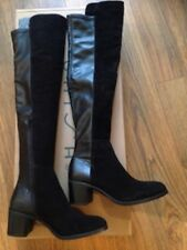 UNISA Black FARIA Baby Suede Leather Over Knee High BOOTS Sz 5 NEW