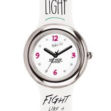 Orologio HIP HOP METAL BEBE VIO HWU0817 32mm Silicone Bianco Live Light