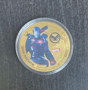 2019 Marvel Avengers Endgame War Machine Gold Plated Commemorative Medal Coin