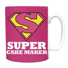 Pink Super Cake Maker Héroe Novedad Divertido Taza de título del puesto 034