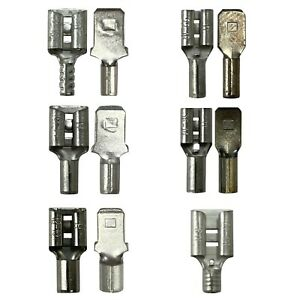 (275) Non Insulated Female Male 22-10 AWG Gauge Wire Quick Disconnect Connectors