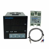 ITC-106VH Digital Pid Temperature Controller + K SENSOR + 40 SSR Fahrenheit fan