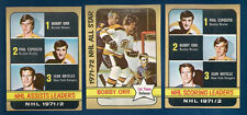 72/73 TOPPS HOCKEY ASSISTS LEADERS  ORR-ESPOSITO  CARD #62