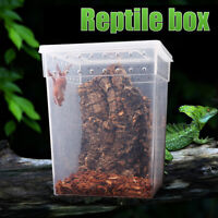 Transparent Plastic Box Insect Reptile Breeding Feeding Tub Turtle Tank