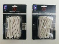 Zero Friction 3-1/4 White Tees 2 Packs Of 30 Golf Tees Per Bag 3 Prong
