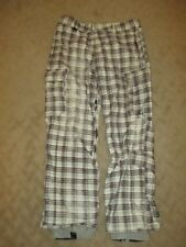 Quiksilver 10,000 Snow Board Pants Plaid- Size Large- EUC