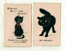 More details for cats.handpainted postcards/black cats, reeves whatman postcards. possibly unique