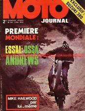 MOTO JOURNAL   54 SUZUKI GT 380 OSSA 250 Trial Mick ANDREWS Mike HAILWOOD 1972