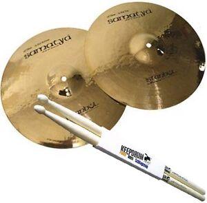 "Istanbul Mehmet Samatya Brilliant Hi Hat 14 "" Cymbals + Keepdrum Drumsticks"