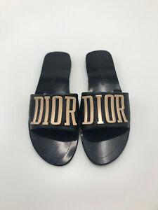 CD Evolution Slides Sandal Black Gold EUR Size 40 New Without Box