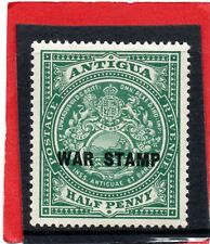 Antigua GV  1916-17 WAR STAMP 1/2d  sg 52 LH.Mint