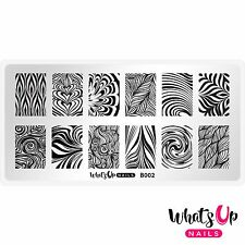 B002 Water Marble to Perfection Stamping Plate For Stamped Nail Art Design