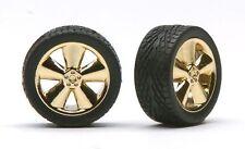 Pegasus 1240 x 1/24-1/25  Phat Boyz Gold w/Low Profile Tires (4)