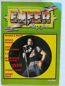 ENFER MAGAZINE n° 9 Dio Scorpions Ozzy Judas Priest Quiet Riot hard rock 1984