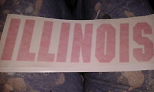 LARGE ILLINOIS Sticker decal graphic FIGHTING ILLINI CHIEF ILLINIWEK  NCAA