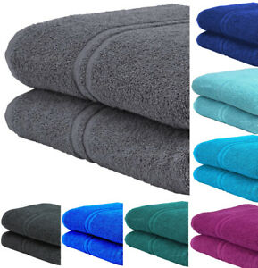 2x Extra Large Super Jumbo Bath Sheets 100% Prime Egyptian Cotton Luxury Towels