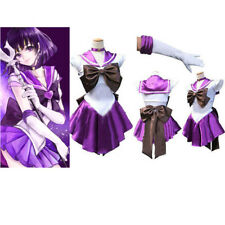 Sailor Moon Purple Costume Cosplay Uniform Fancy Dress Party Club Outfit +Gloves